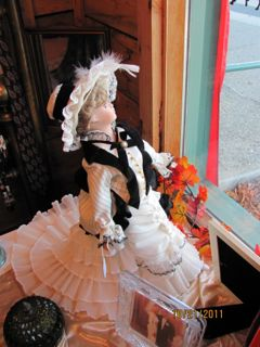A striking doll in the Angels Boutique